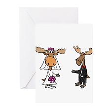 Moose Wedding Greeting Cards