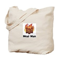 BBQ Fire: Meat Man Tote Bag