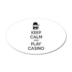 Keep Calm And Play Casino 38.5 x 24.5 Oval Wall Pe