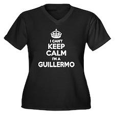 Cute Guillermo Women's Plus Size V-Neck Dark T-Shirt
