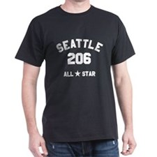 """SEATTLE 206 ALL-STAR"" T-Shirt"