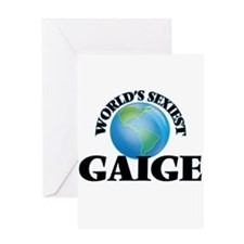 World's Sexiest Gaige Greeting Cards