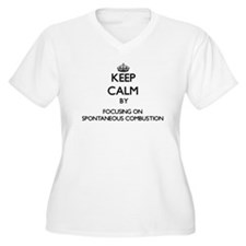 Keep Calm by focusing on Spontan Plus Size T-Shirt