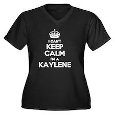 Funny Kaylen Women's Plus Size V-Neck Dark T-Shirt
