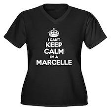 Marcel Women's Plus Size V-Neck Dark T-Shirt