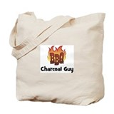 BBQ Fire: Charcoal Guy Tote Bag