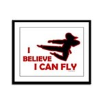 I Believe I Can Fly (Female) Framed Panel Print