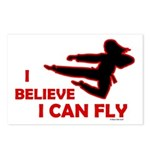 I Believe I Can Fly (Female) Postcards (Package of