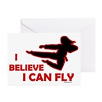 I Believe I Can Fly (Female) Greeting Cards (Packa