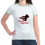 I Believe I Can Fly (Female) Jr. Ringer T-Shirt