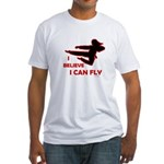 I Believe I Can Fly (Female) Fitted T-Shirt