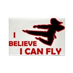I Believe I Can Fly (Female) Rectangle Magnet (100