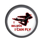I Believe I Can Fly (Female) Wall Clock