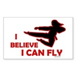 I Believe I Can Fly (Female) Rectangle Sticker