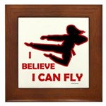 I Believe I Can Fly (Female) Framed Tile