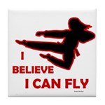 I Believe I Can Fly (Female) Tile Coaster