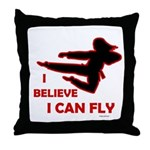 I Believe I Can Fly (Female) Throw Pillow