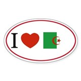 I love Algeria Oval Decal