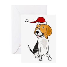 Funny Beagle Dog Christmas Greeting Cards