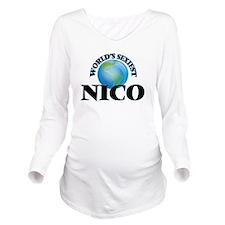 World's Sexiest Nico Long Sleeve Maternity T-Shirt