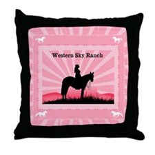 Pink Cowgirl Throw Pillow