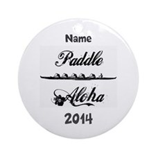 PaddleAloha-Kane (personalized) Ornament (Round)