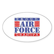 Proud Air Force Grandpa Oval Decal