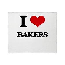 I love Bakers Throw Blanket