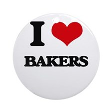 I love Bakers Ornament (Round)