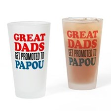 Promoted To Papou Drinkware Drinking Glass