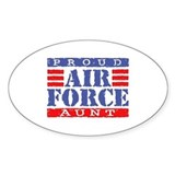 Proud Air Force Aunt Oval Decal