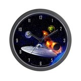 Roswell Alien Space Wall Clock
