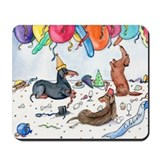 Party Dachshunds Mousepad