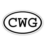 CWG Oval Oval Decal