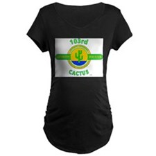 103rd Infantry Division Cactus Maternity T-Shirt