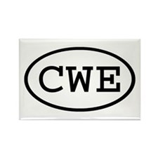 CWE Oval Rectangle Magnet (10 pack)