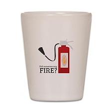 Fire Alarm Shot Glass