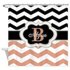 Elegant Monogram by LH Shower Curtain