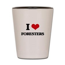 I love Foresters Shot Glass
