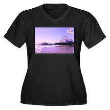 Purple Hearts Pier Plus Size T-Shirt