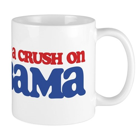 I Got a Crush on Obama (Kiss) Mug