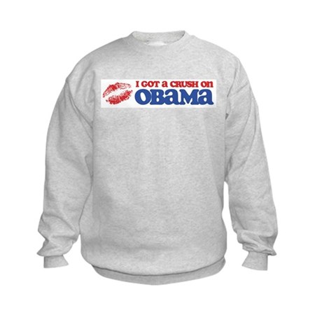 I Got a Crush on Obama (Kiss) Kids Sweatshirt