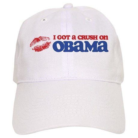I Got a Crush on Obama (Kiss) Cap