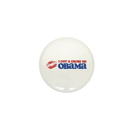 I Got a Crush on Obama (Kiss) Mini Button