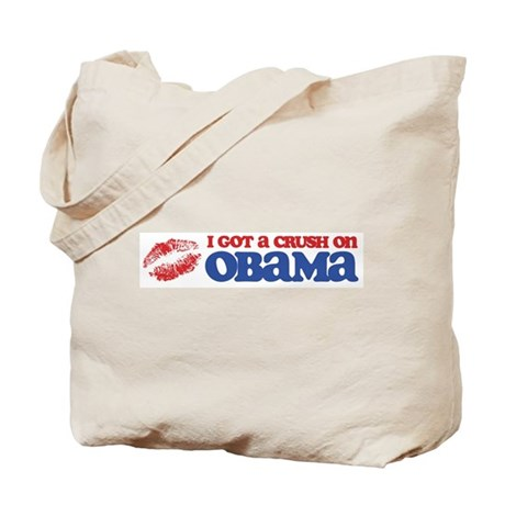 I Got a Crush on Obama (Kiss) Tote Bag