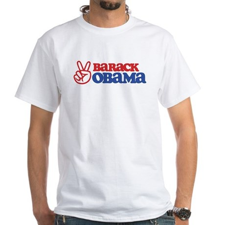 Barack Obama for Peace White T-Shirt