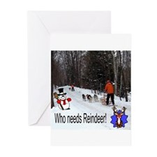 Cute Siberian husky christmas Greeting Cards (Pk of 20)