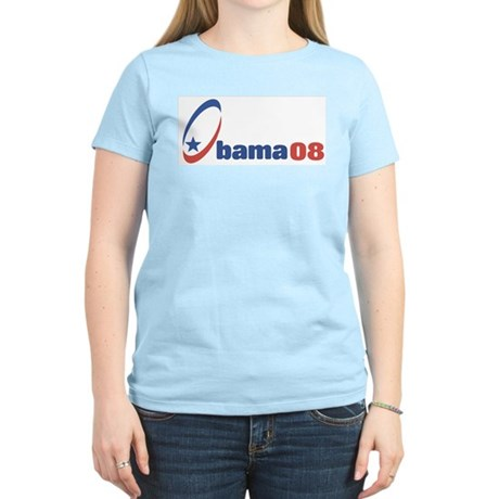 Obama 08 (circle-star) Women's Light T-Shirt