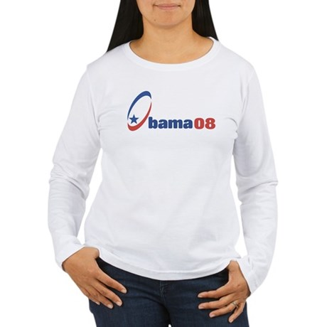Obama 08 (circle-star) Women's Long Sleeve T-Shirt