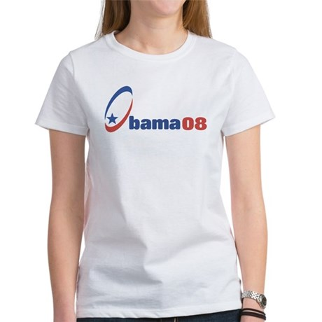 Obama 08 (circle-star) Women's T-Shirt